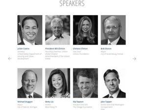 Screenshot of the speaker list