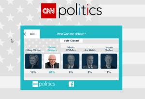 bernie sanders poll